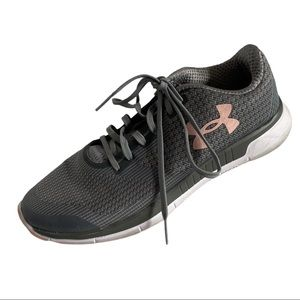 Under Armour Grey and Pink Sneakers Size 9